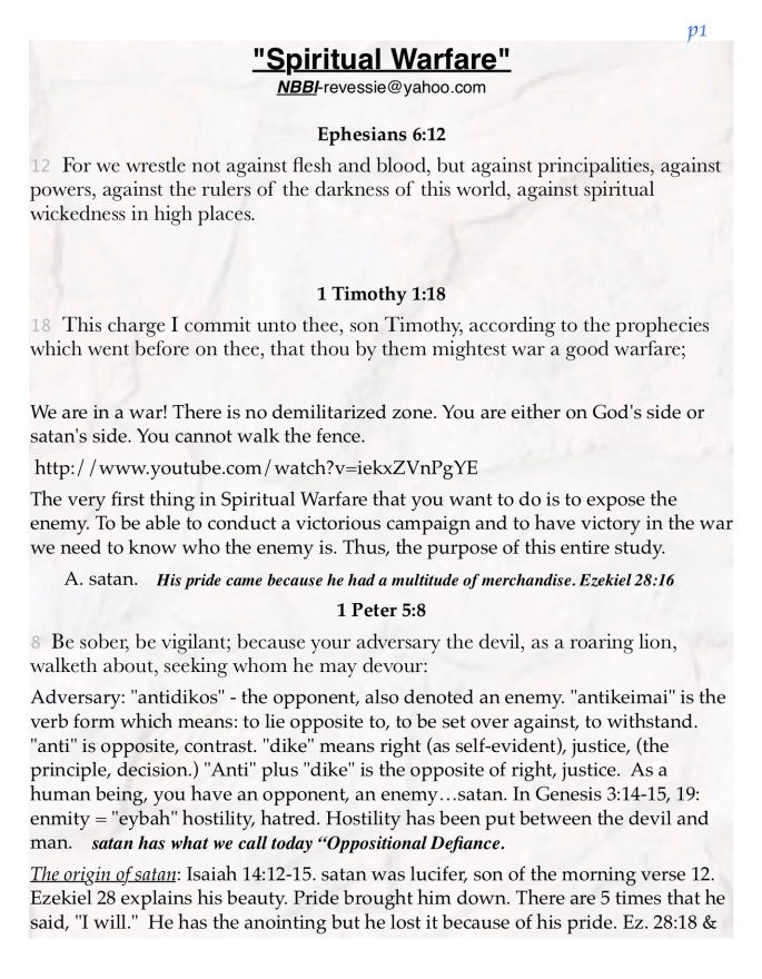 Spiritual Warfare NBBI 2